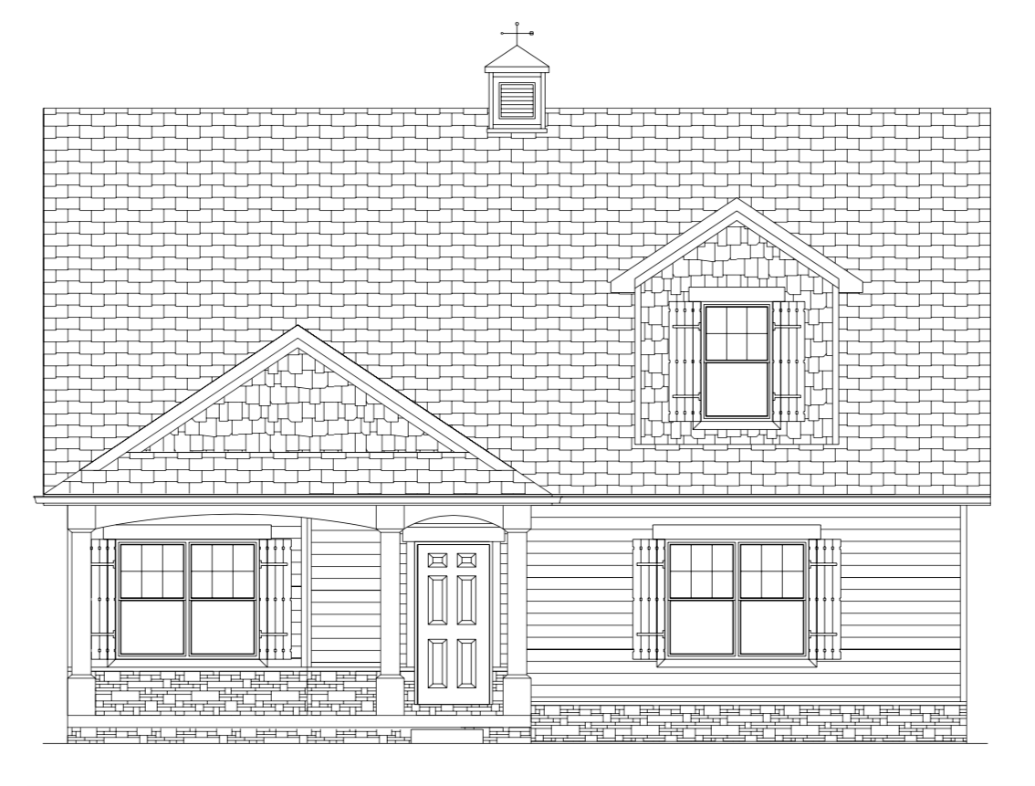 The Schoolhouse Cottage Home Elevation